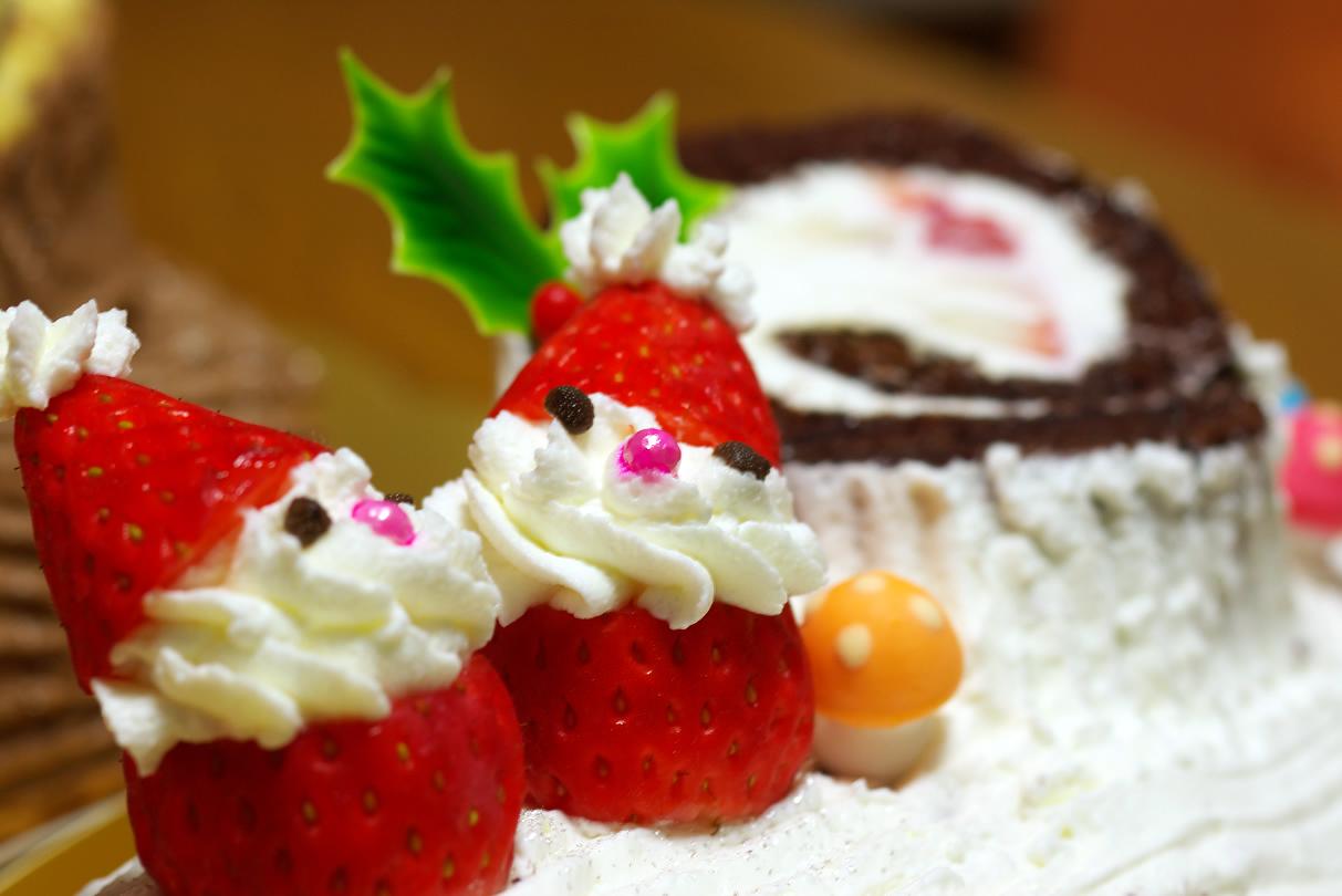 La traditionnelle bûche de Noël