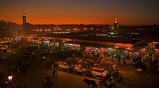 Marrakech, la ville rouge