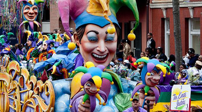 Mardi Gras à la Nouvelle Orléans: la ville en fête!