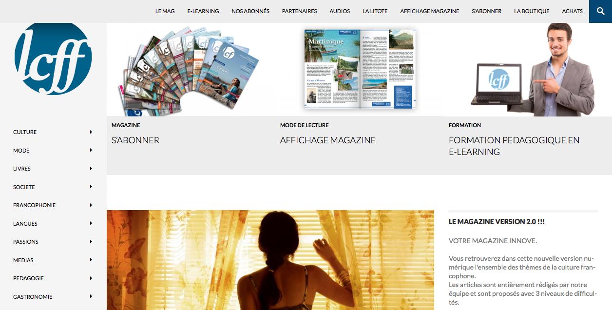 Le nouveau site LCFF magazine
