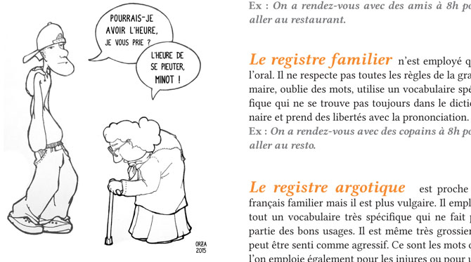 Les registres de la langue